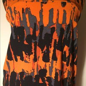Lularoe Cassie orange and black